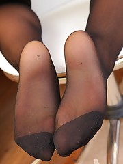 hot nylons leg video
